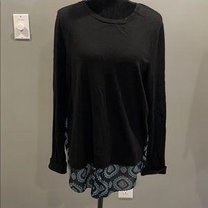 Sz L Loft black/blue lightweight sweater